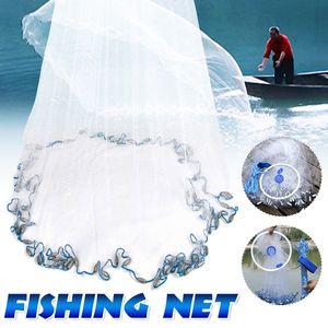 Wurfnetz Fischernetz Fangnetz 8-16FT Fisch Netz Köderfischnetz Cast Kescher