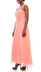 melrose weich fließendes Damen Spitzen-Abendkleid Koralle, Größe:32