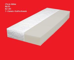 25cm  MAMMUT RG35  ( 80x200cm )   7-Zonen  KALTSCHAUM MATRATZE H2+H3