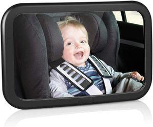 Rücksitzspiegel für Babys, bruchsicherer Spiegel für Auto Baby mit großem Sichtfeld, Babyspiegel ohne Einzelteile/Schrauben, 360° schwenkbar, Größe 300 x 190 x2,8mm