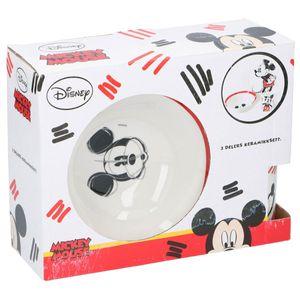 Geschirrset Mickey Mouse Porzellan Geschenkset 3tlg. Frühstücksset