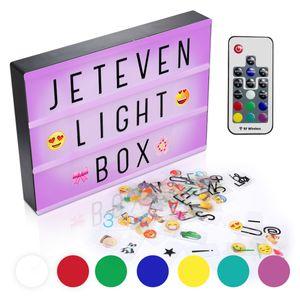 Loskii USB A4 7-Farben-Lichtbox mit Fernbedienung Home Party Hochzeitslampe Nachbildung