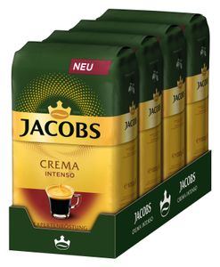 JACOBS Expertenröstung Crema Intenso Kaffee Ganze Bohne 4 x 1 kg Kaffeebohnen