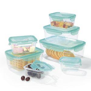 Frischhaltedosen Set Klick Gefrierdosen Lunchbox Deckel 14-tlg. aquamarin