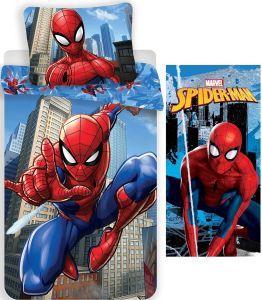Marvel´s Spiderman - Wende-Bettwäsche-Set, 135x200 cm und Badetuch, 70x140 cm