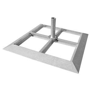 Plattenständer für Sonnenschirm Schirmständer Stahl 1090x1090x60 mm