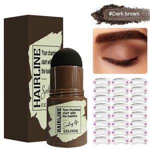 Ein Schritt Stirn-Stempel-Shaping-Kit-Augenbraue definierter Schwarzbraun Augenbrauenstifte