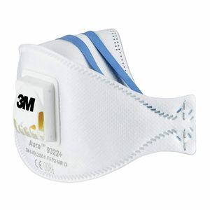 10x 3M FFP2 NR D Aura 9322+ Atemschutzmaske Ventil Atemschutz Mundschutz Maske mit Cool Flow