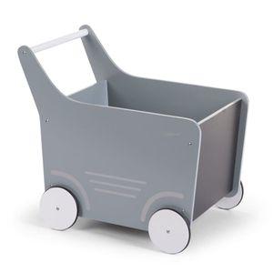 CHILDHOME Holz-Spielzeugwagen Grau WODSTRM