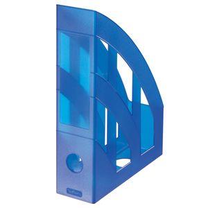 Herlitz Stehsammler / Plastik Stehordner / Farbe: transluzent blau