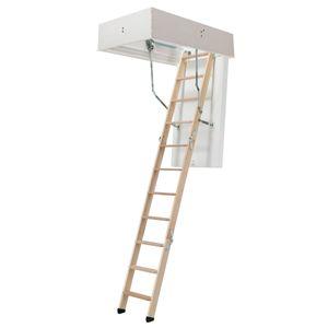 Dolle Bodentreppe clickFIX® 3-teilig bis 274cm Raumhöhe mit U-Wert 0,49 Deckenöffnung 140x70cm