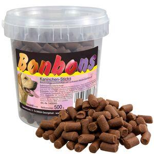 1 x 500g Schecker Hundebonbons mit Kaninchen - fettarm - Weich - Im Frischeeimer