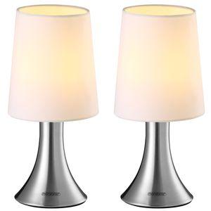 Monzana Tischlampe 2er Set Nachttischlampe Design Tischleuchte Touch 3 Helligkeitsstufen Wohnzimmerlampe Leuchte, Model:2er Set Cahaya