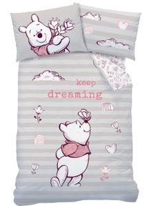 Winnie Pooh Kinder-Bettwäsche 40x60 cm + 100x135 cm · Winnie Puuh Baby-Bettwäsche in Renforce - 100% Baumwolle