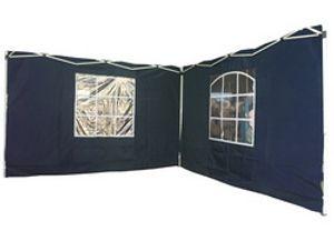 Set mit 2 Seitenwänden inkl. Fenster für Faltpavillion BLAU 2246-02