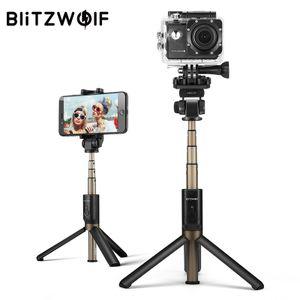 BlitzWolf BW-BS3 Sport Vielseitig 3 in 1 bluetooth-Stativ Selfie-Sticks für Sportkameras und Smartphones