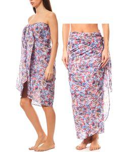 MAUI WOWIE gemusterter Pareo Strand-Kleid Rock Bademode Bunt, Größe:OneSize