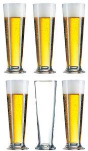 6 Biergläser Linz Arcoroc 0,3L geeicht