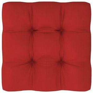 vidaXL Palettensofa-Kissen Rot 60x60x12 cm
