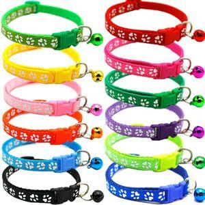12 Stk.Katzenhalsband Hunde Für Kleine Hunde und Welpen Halsband Mit Glocke Hunde-Halsbänder