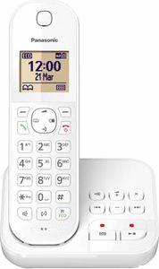 Panasonic Festnetztelefon KX-TGC420, Anrufbeantworter, Farbe: Weiss