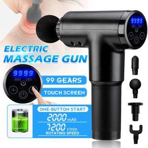 GEEMAX Massagepistole, Massage Gun Muscle Massagegerät Elektrisch Handmassagegerät, Deep Tissue Muskel Massager mit 4 Massageköpfen