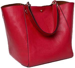 Damen Tasche Einkaufstasche Kunstleder Handtasche Schultertasche