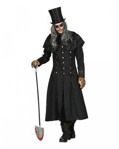 Totengräber Kostüm Mantel mit Kragen für Herren als Verkleidung für Halloween Größe: XL/XXL