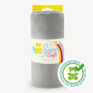 Plüschstoff grau / silber – 1,5 mm SuperSoft SHORTY