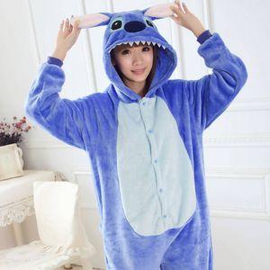Jumpsuit, Onesie für Erwachsene Lilo & Stitch blau M (155-165cm)