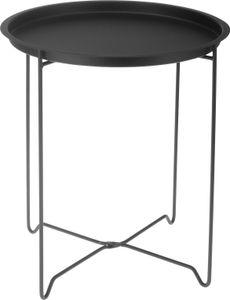 Metall Beistelltisch - faltbar - Ø41 x H48cm - Farbe: schwarz