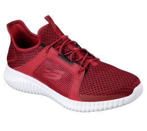 Skechers Elite Flex Herren Sneaker Rot Schuhe, Größe:45