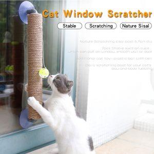 An der Wand befestigter Kratzbaum mit haengendem Ballspielzeug Cat Scratcher Cat Climbing Kratzspielzeug fuer Katzen, die alleine spielen
