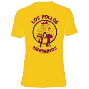 Breaking Bad T-Shirt Men - LOS POLLOS HERMANOS - Yellow, Größe:S