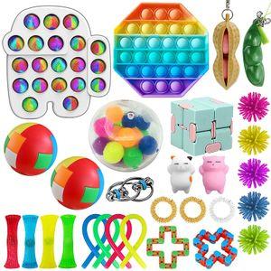 28X Pop It Fidget Sensory Toy Set Autismus SEN ADHS Fidget Stressabbau Spielzeug