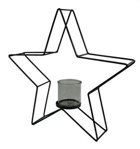 Teelichthalter Metall in Sternform - 39 x 39 cm