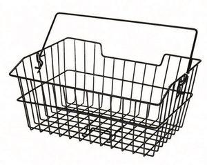 Prophete 6242 Fahrrad Einkaufskorb schwarz - Hinten - grobes Gitter