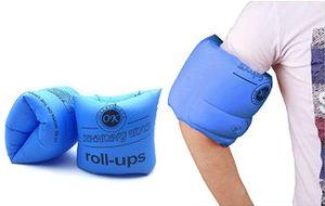 Schwimmflügel, 1 Paar Aufblasbare Schwimmring Schwimmhilfe Schwimmen Armbands für Kinder und Erwachsene(blau)
