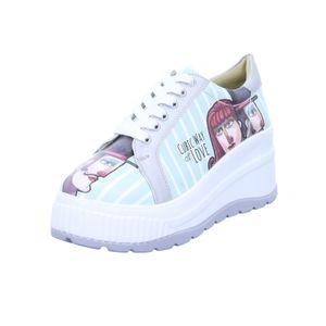 DOGO Damen Sneaker Cubic Love Weiß