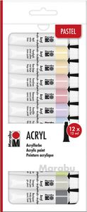 "Marabu Acrylfarben-Set ""PASTELL"" 12 x 12 ml"