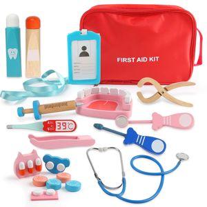 LBLA Lernspielzeug (für Kinder, Doktorkoffer Medizinisches Kit Spielzeug Zahnarzt Rollenspiele), Arztkoffer Kinder Holz