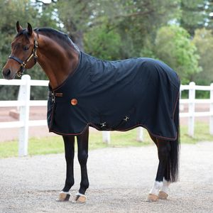 Horseware Rambo Ionic Stable Sheet - Stalldecke 0g - schwarz , Größe:145