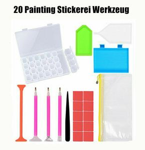 20 Werkzeug 5D Diamant Diamond Painting Stickerei Malerei Gifts Zubehör Box DE