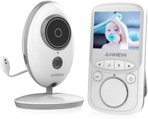 Babyphone mit Kamera-MEINE PERLE , Wireless Baby Monitor, video babyphone, Gegensprechfunktion Digital mit Temperatursensor Schlaflieder Nachtsicht -S605