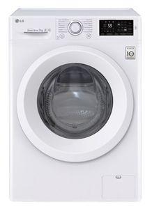 LG F14WM7LN0E Freistehende Waschmaschine, Frontlader, Weiß, 1400 U/min, 7 kg Fassungsvermögen, 55 dB Waschlautstärke, Inverter-Motor, 60 cm Breite, Startzeitvorwahl, Wasserauslaufschutz