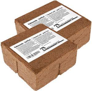 Humusziegel 140 Liter Kokosblumenerde - Blumenerde aus Kokosfaser - Erde für Terrarium - Kokos Ziegel gepresst - natürlich & torffrei - geeignet als Palmenerde, Erde für Zimmerpflanzen, Pflanzenerde