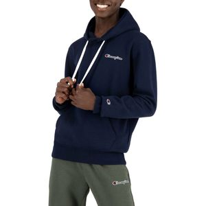 Champion Herren Hoodie aus Bio-Baumwollmischung mit Logo-Schriftzug, Blau S