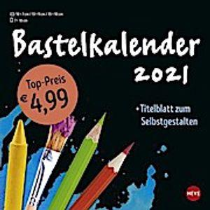 Bastelkalender 2021 klein schwarz