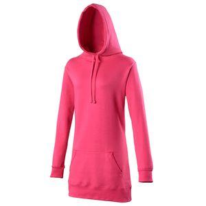 Awdis Girlie Damen Kapuzen Pullover extra lang RW167 (Large) (Dunkles Pink)