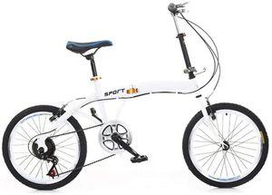 Klapprad  Faltrad  Klappfahrrad Stadtfahrrad  7 Gang Fahrrad Fahrrad Doppel V Bremse   20 Zoll Weiß